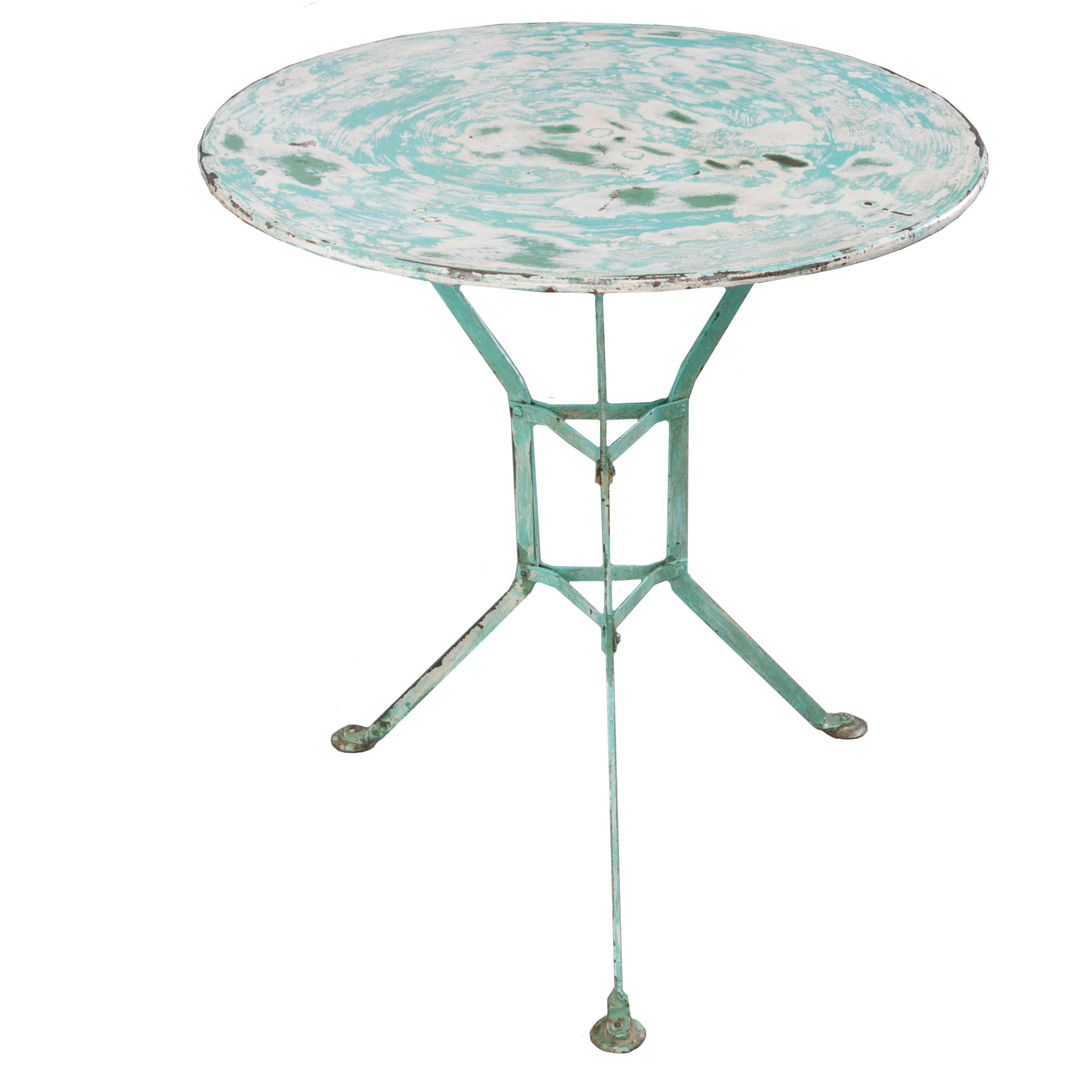 Small Round Vintage Metal Garden Table Fireside Antiques